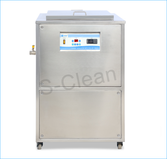 Floor mounted sonicator with inbuilt chiller Unit
